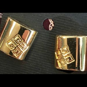 90's Vintage Givenchy Logo Square Earrings